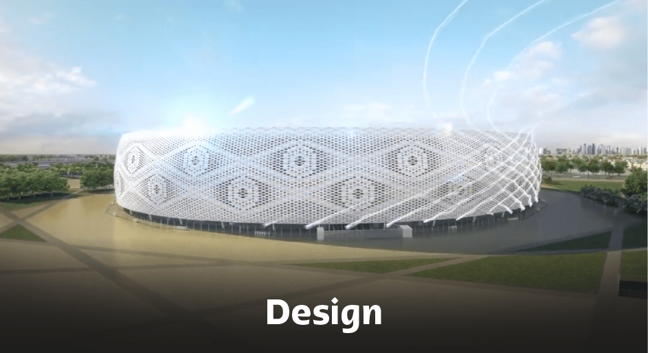 Al Thumama Stadium Design.