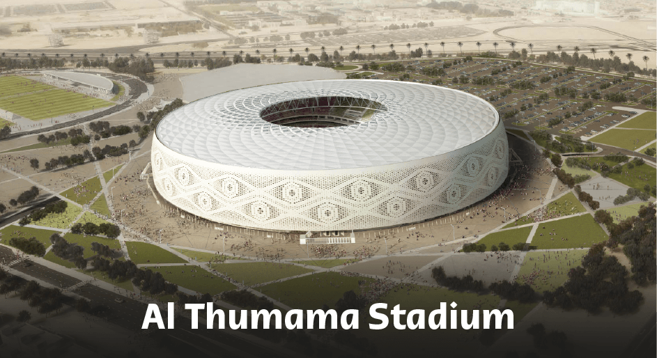 Al Thumama Stadium.