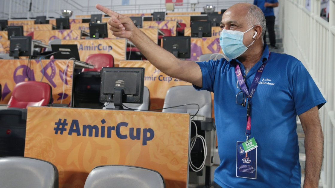 2020 Amir Cup semi-final volunteer