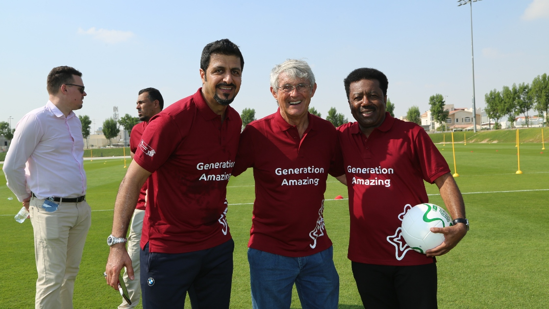 Ibrahim Khalfan and friends at Generation Amazing event