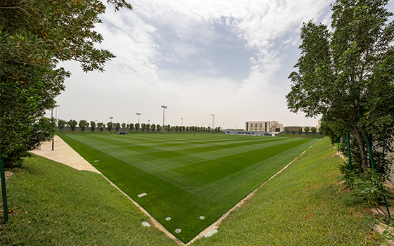 A football pitch at a training site