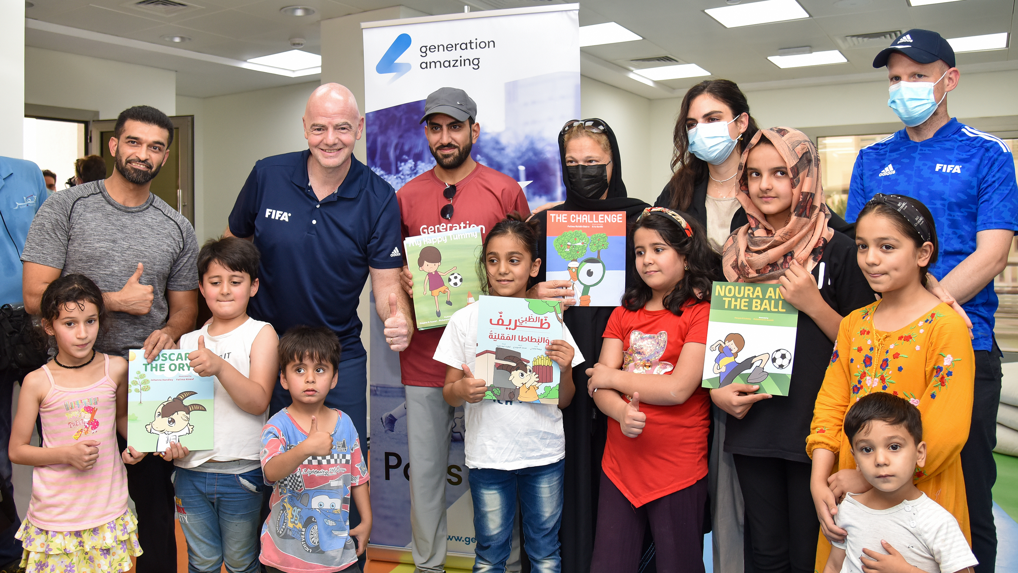 FIFA President visits Afghan refugees in Qatar