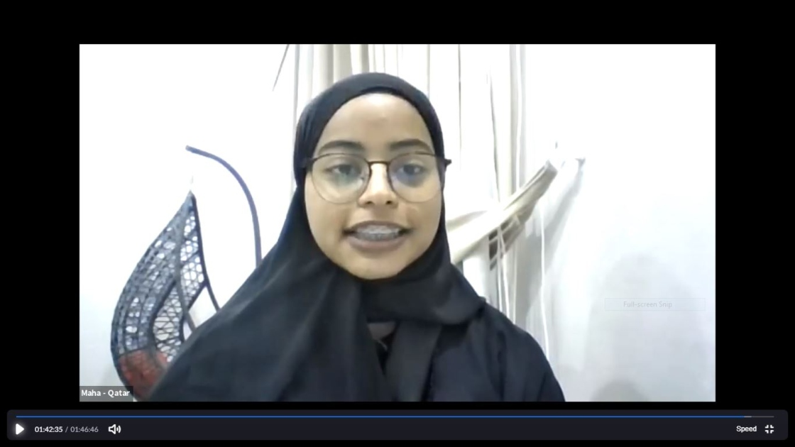 Youth Advocate Maha Al Badr