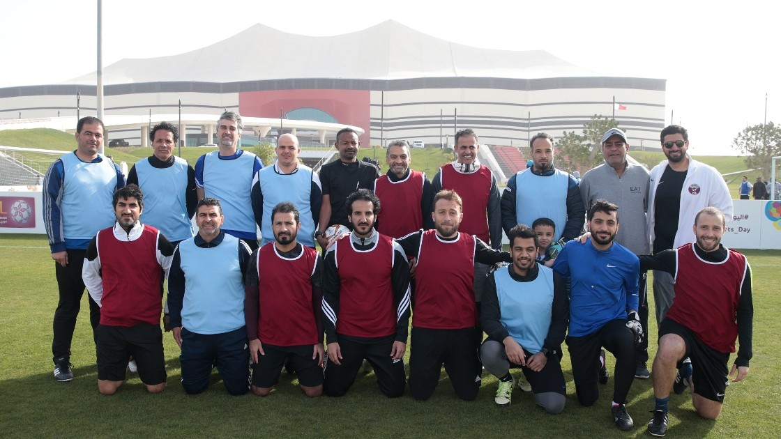 Qatar Football Family, including employees from the SC, Qatar Football Association and Qatar Stars League