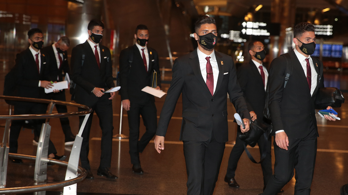 Al Ahly SC arrives in Doha
