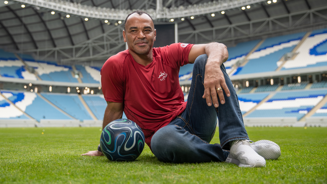 Cafu at Al Janoub Stadium.