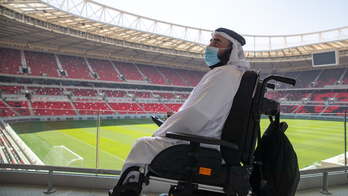 Member of the accessibility forum visits stadium