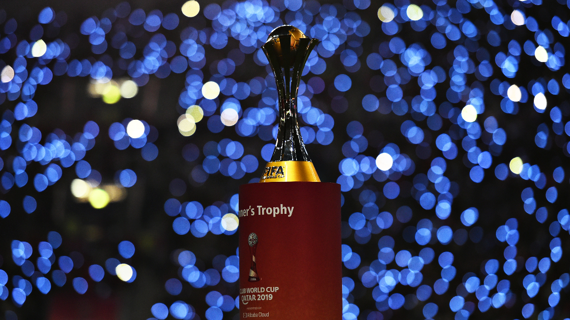 The FIFA Club World Cup Qatar 2020™ trophy