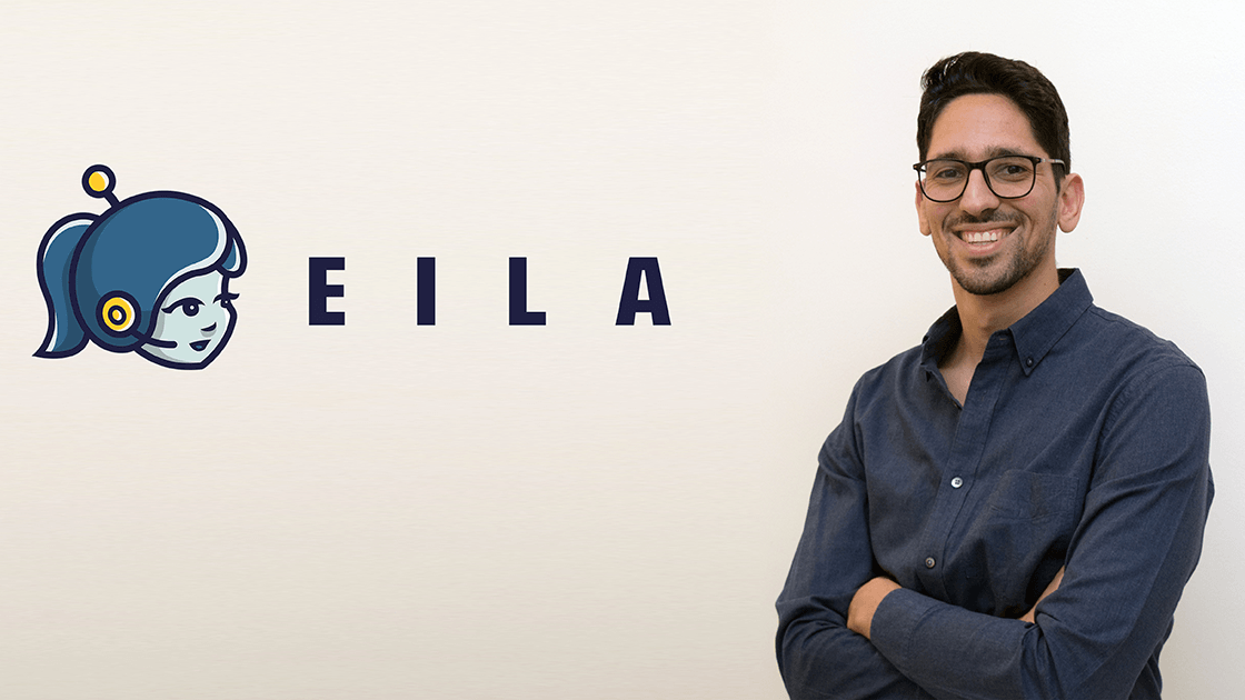 The Eila founder and the company logo