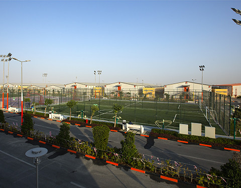 Sporting facilities at workers' accommodation site