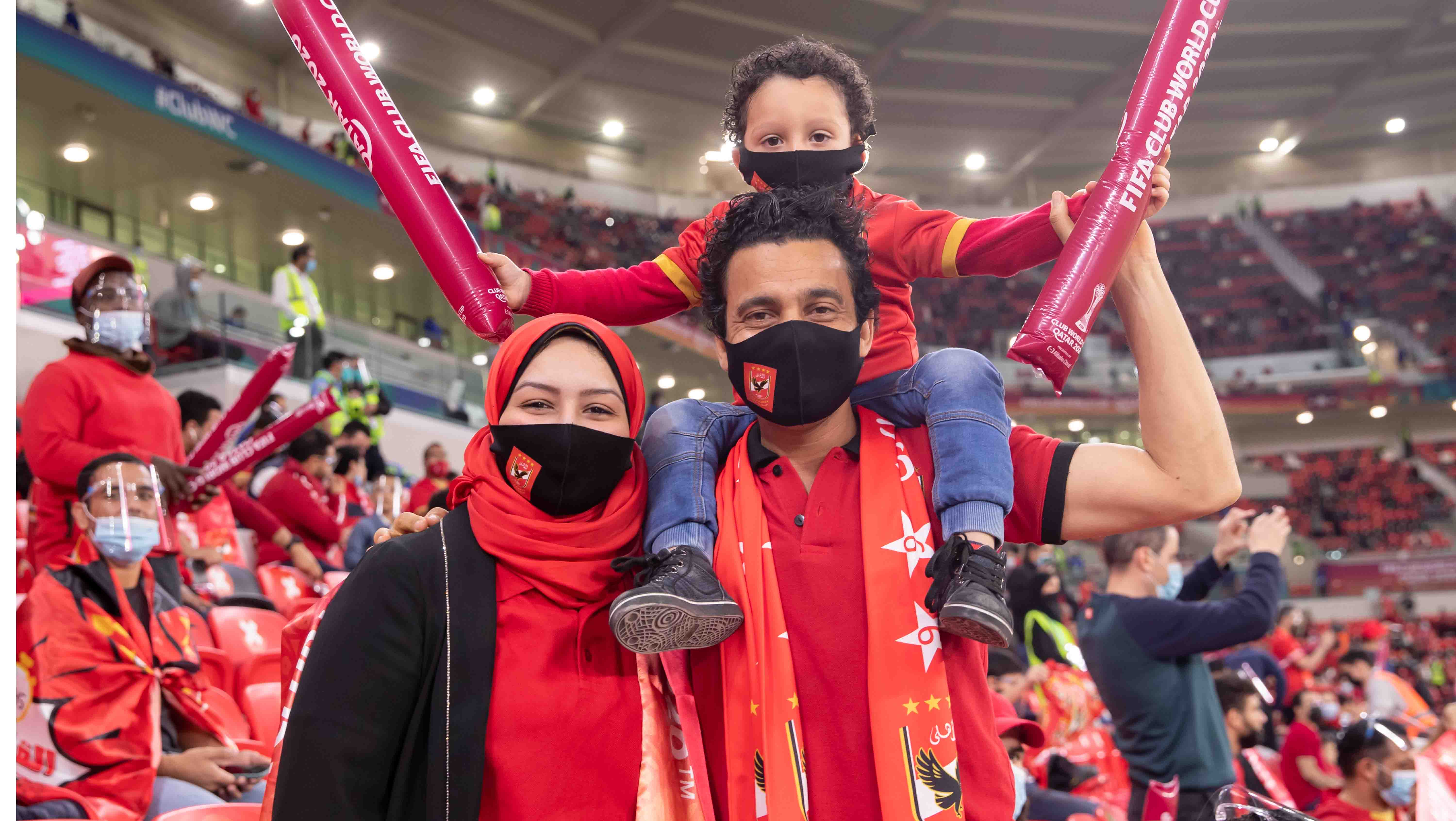 A family of Al Ahly SC fans